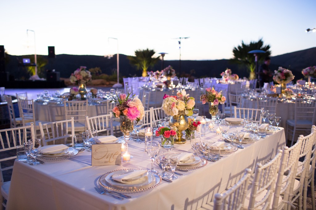 wedding outdoor table setup