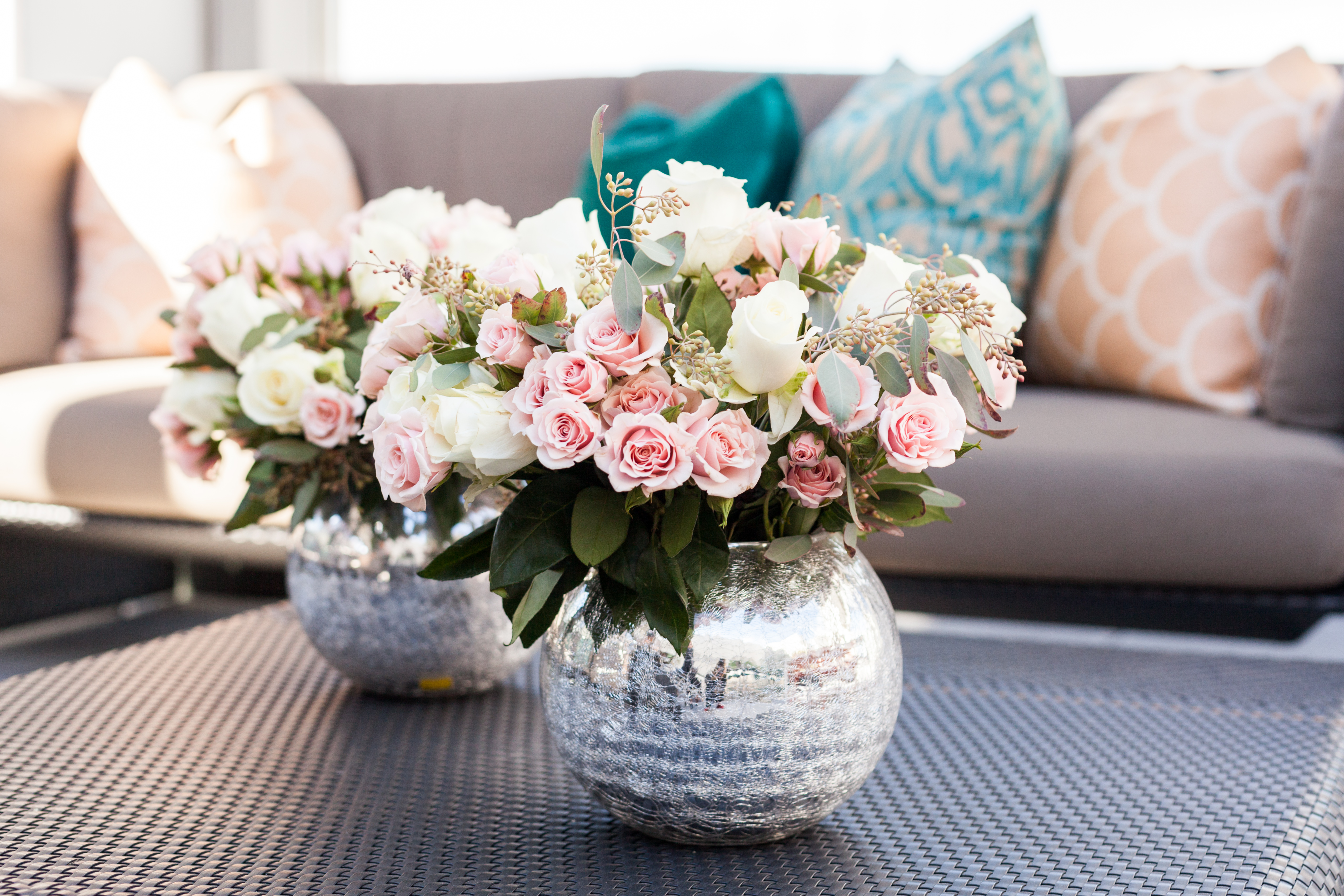 diy flower arrangement roses peonies