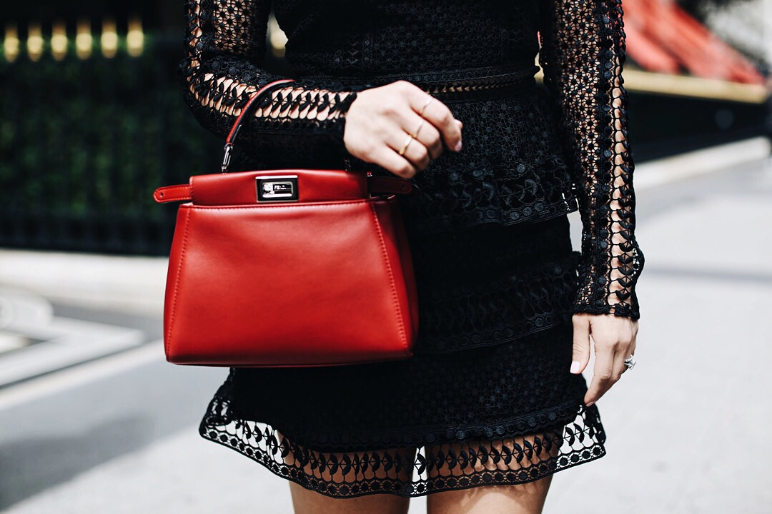 I got this gorgeous Fendi Peekaboo Red Mini bag that I've been wanting for so long.