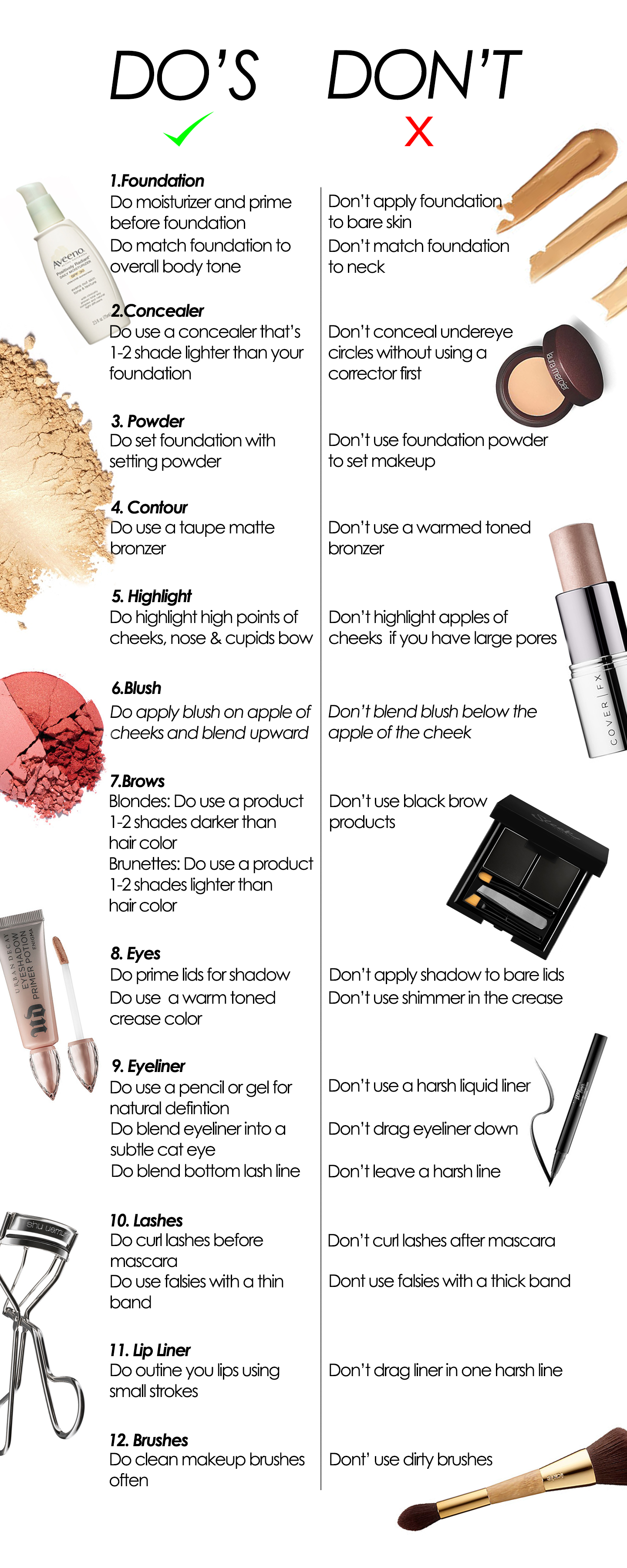 12 makeup mistakes to avoid