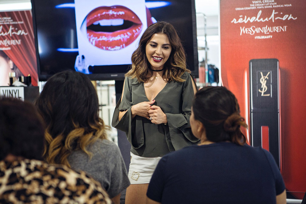 Sona Gasparian at her La meet up at the YSL Counter at Nordstrom, the Grove.