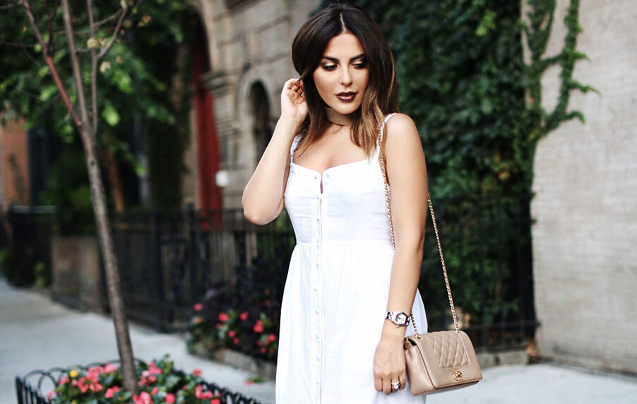 Sona Gasparian's NYFW look for the Bloglovin' Awards