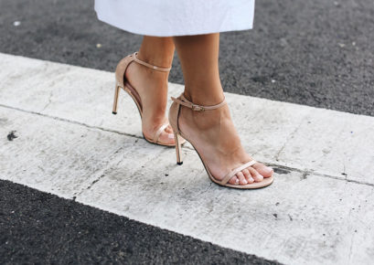The perfect heels for New York Fashion Week, worn by Sona Gasparian.