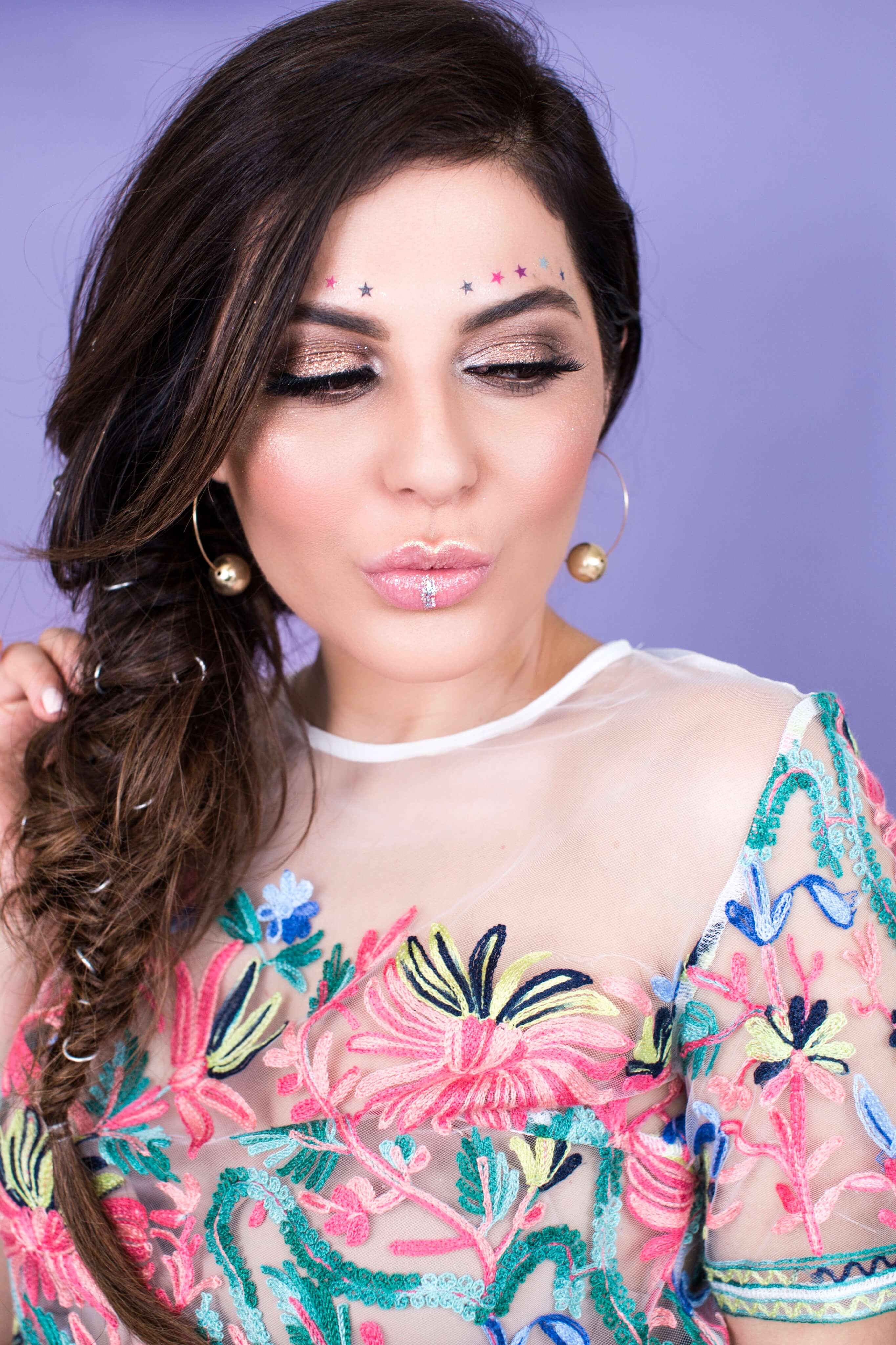 sona gasparian's festival makeup and hair tutorial