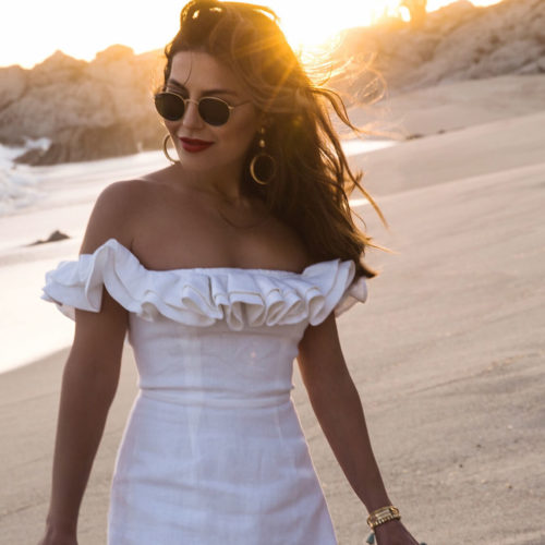 Beach Days in a Little White Dress