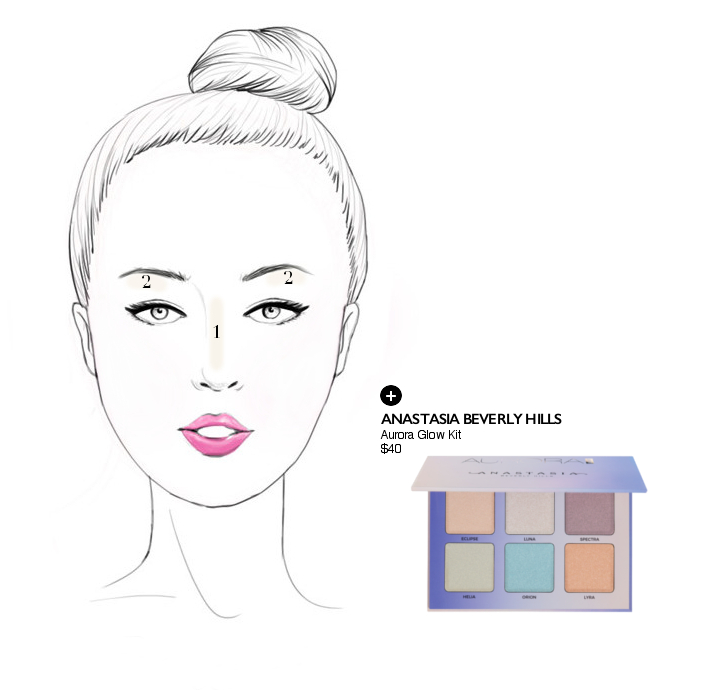 how to highlight a round shaped face