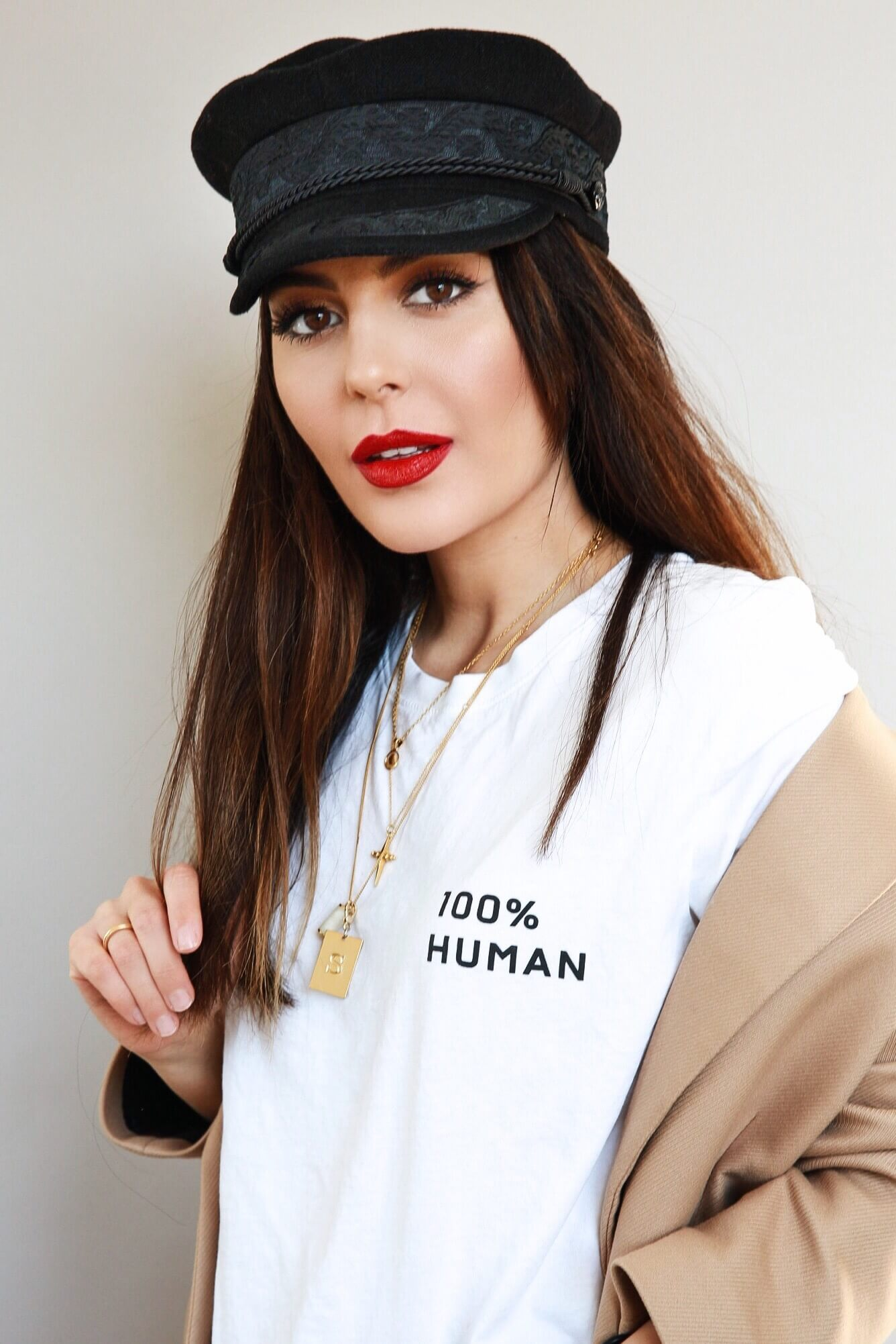 Military hat trend