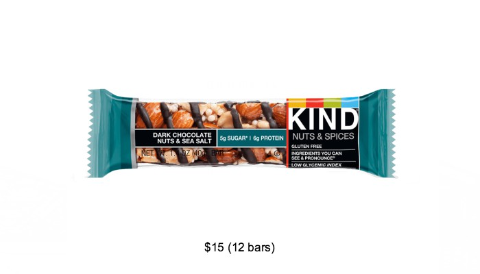 Amazon grocery list KIND Bars