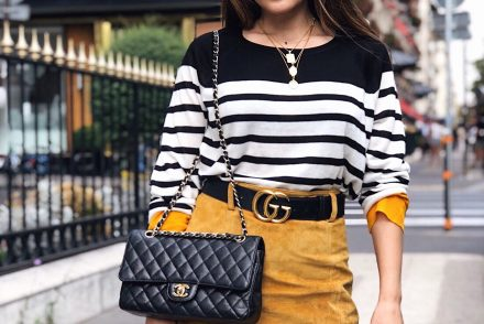 stripe sweater outfit