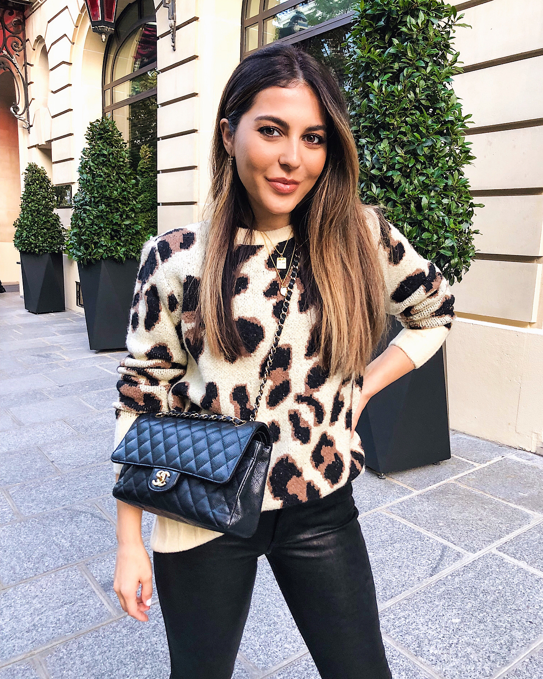 Leopard blogger outfit