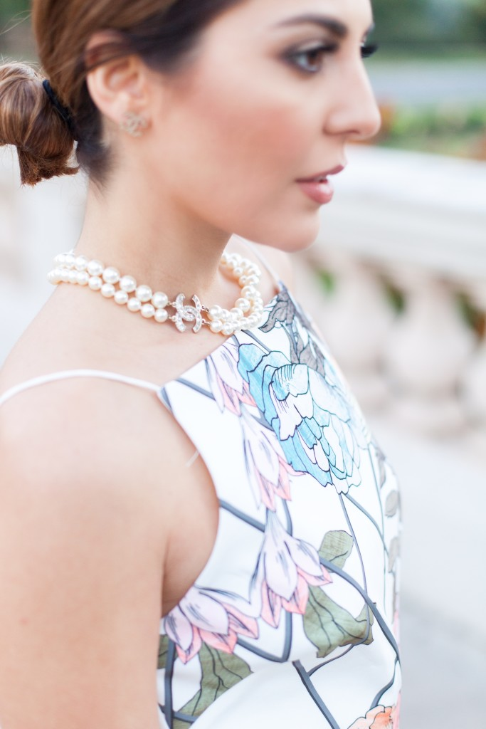 double pearl chanel necklace