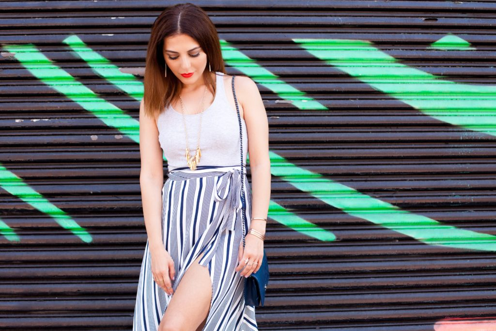 maxi skirt with a slit