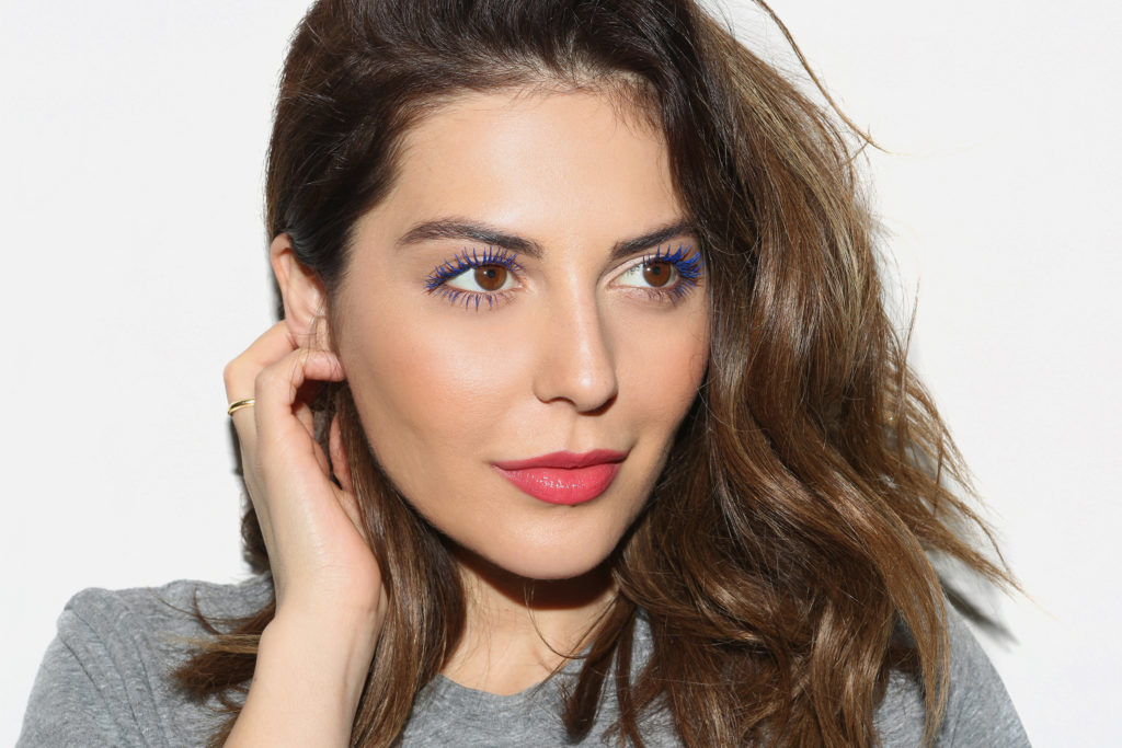 Simply Sona wears the I'm in Trouble Blue YSL Vinyl Couture Mascara.