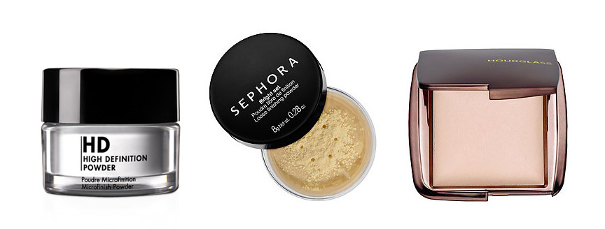 Setting Face Powder by Makeup Forever, Sephora and Hourglass, help blur and conceal imperfections