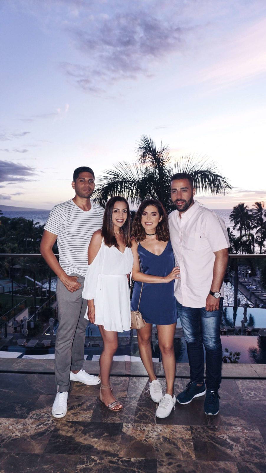 Sona and KB with friends in Maui.