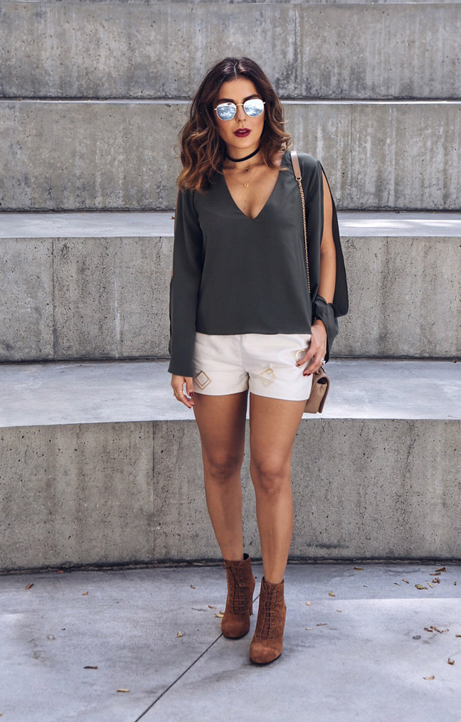 Sona Gasparian's summer to fall look worn to her LA meet up.