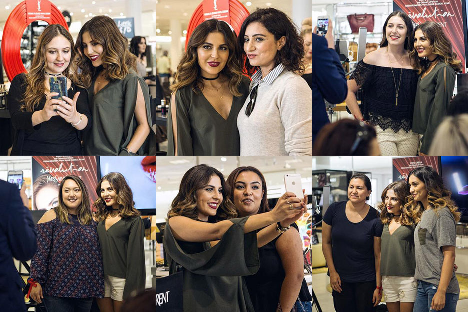 Sona Gasparian at her LA meet up at the YSL counter in Nordstrom, the Grove.
