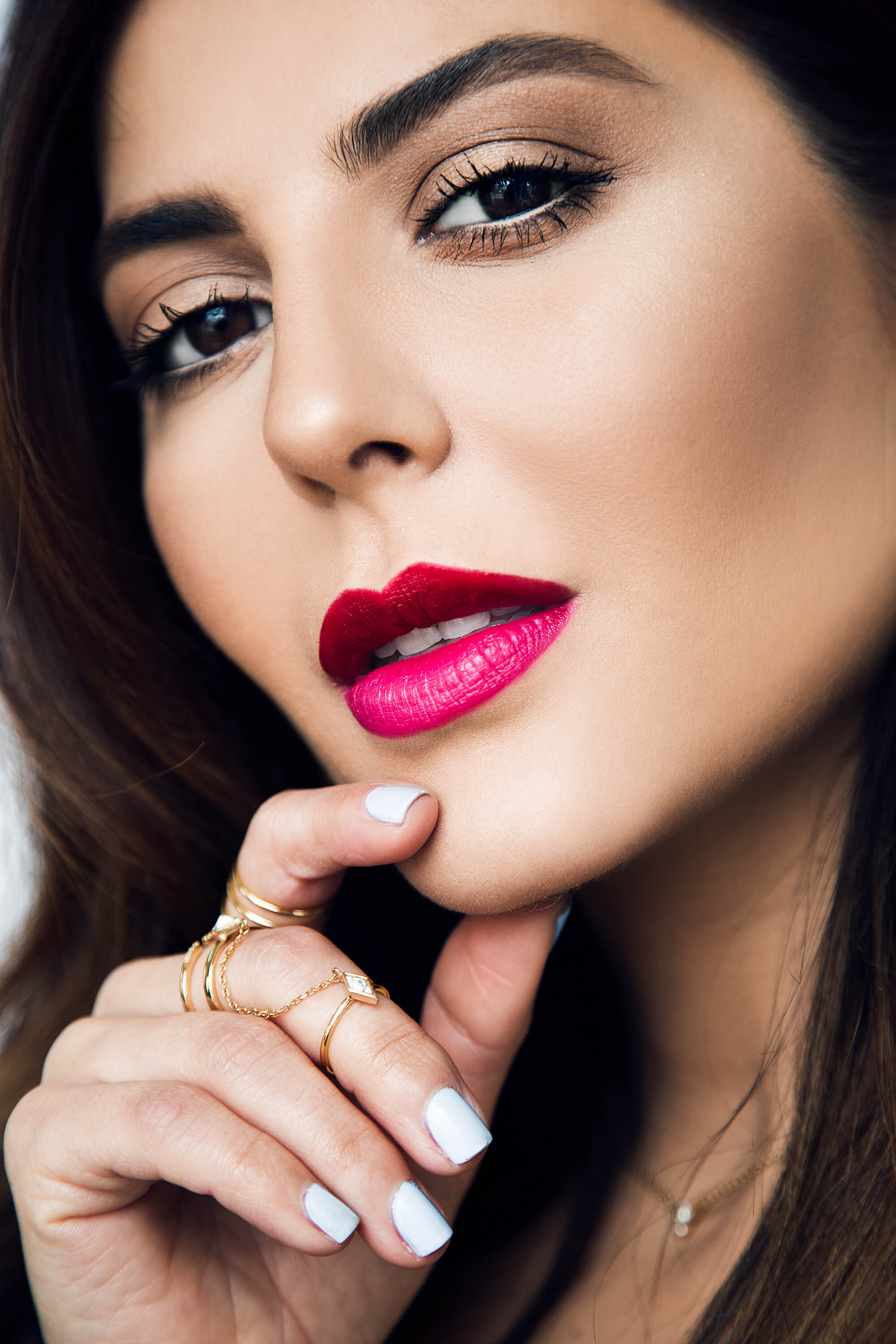 spring makeup trend 2017 two toned lipstick with sona gasparian
