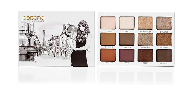 sona gasparian's travel makeup, the persona cosmetics identity palette