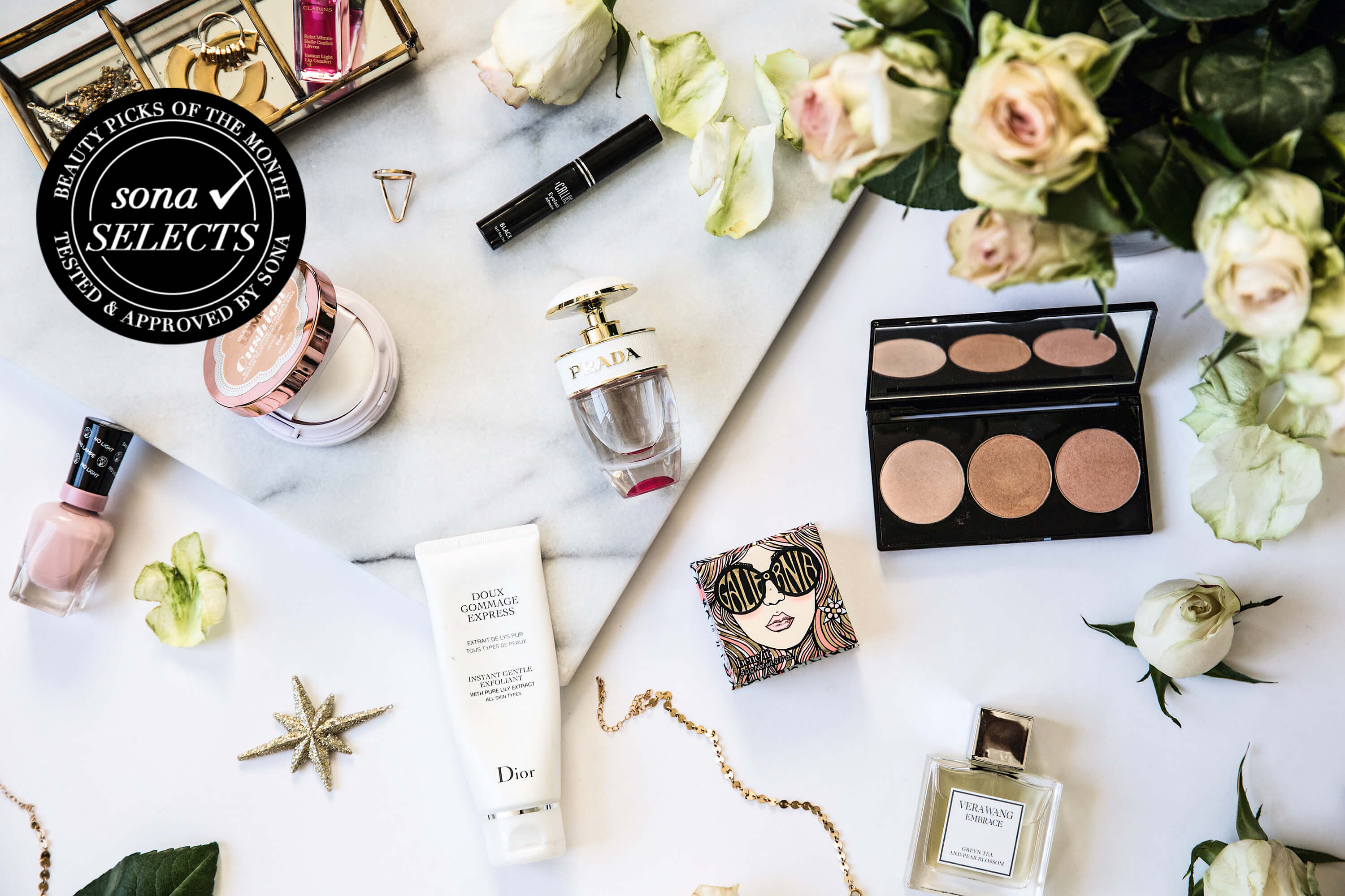 april edition of Sona Selects, the best makeup and beauty products of the month